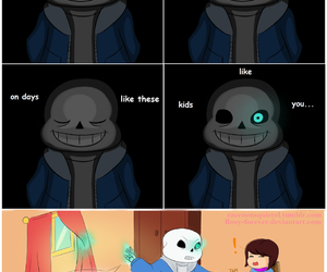 sans, frisk, and undertale image