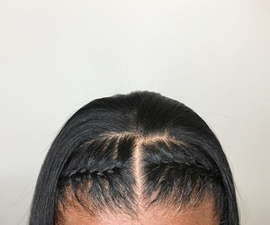 black, braids, and hair image