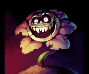 creepy, flowey, and undertale image