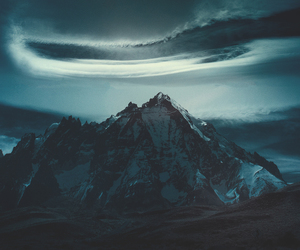 dark, mountains, and sky image