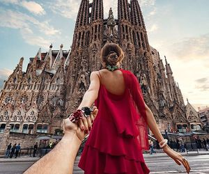 Barcelona, travel, and couple image