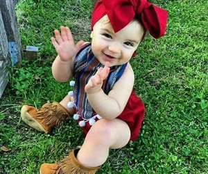 combination, baby in red, and red diaper image
