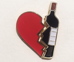 heart, wine, and alcohol image