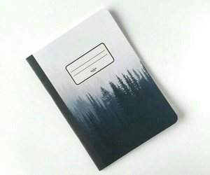 forest, journal, and notebook image