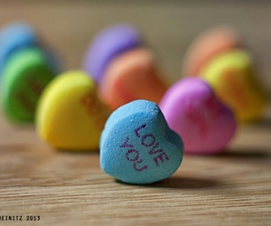 love, candy, and heart image