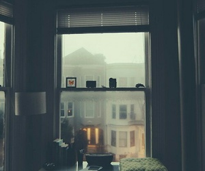 window, rain, and indie image