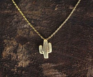 cactus, accessories, and gold image