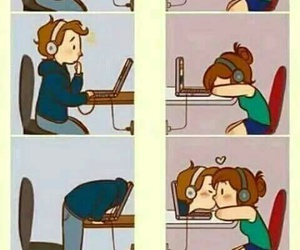 love, kiss, and distance image
