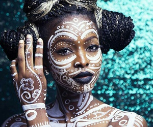 art, body painting, and braids image