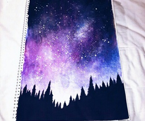 art, galaxy, and purple image