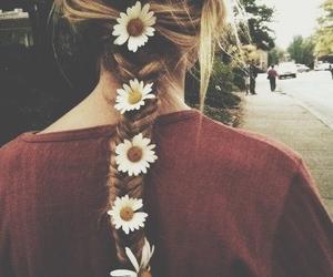 flowers hair girl image