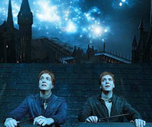 harry potter, hogwarts, and brothers image