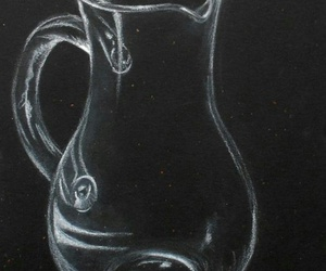 black, drawing, and glass image