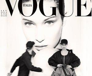 bella hadid, model, and vogue image