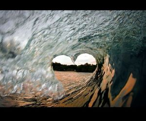 heart, photography, and sea image