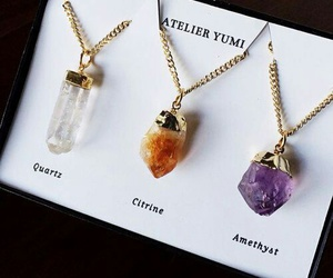 necklace, crystal, and jewelry image