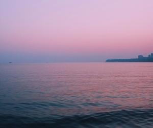pink, purple, and sea image