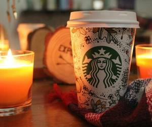 autumn, starbucks, and fall image