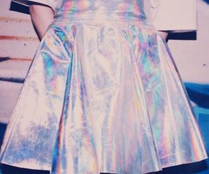 holographic, skirt, and tumblr image