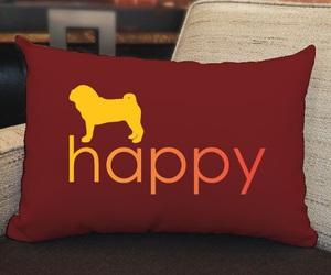 animals, cushion, and pug life image