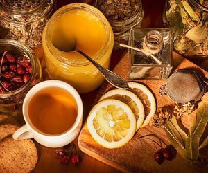 tea, autumn, and honey image