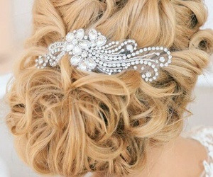 hair, wedding, and beautiful image