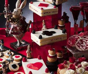 alice in wonderland, rabbit, and cake image