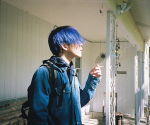 samuel seo, blue, and grunge image