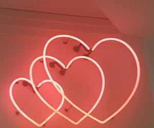 heart, neon, and aesthetic image