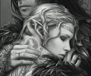 fantasy, art, and couple image