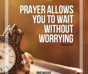 god, peace, and wait image
