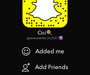 add, chat, and snap image