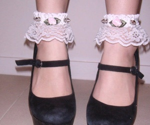 shoes, grunge, and lace image