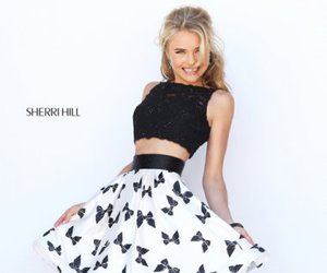 two piece prom dress and sherri hill 50218 image