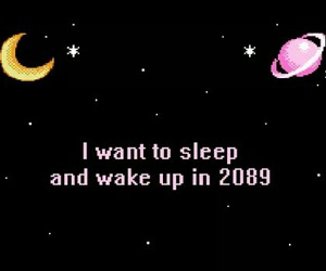 sleep, quotes, and moon image