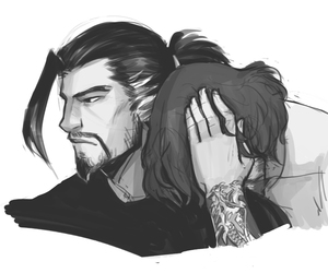 fanart, mccree, and hanzo image