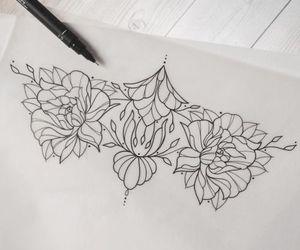 design, tattoo, and underboob tattoo image