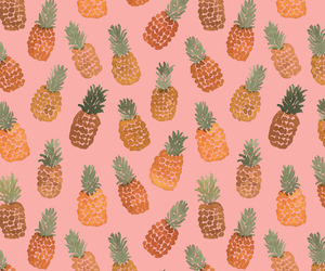 wallpaper, pineapples, and fruit image