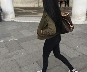 adidas, hair, and black image
