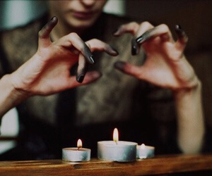 candle, black, and hands image