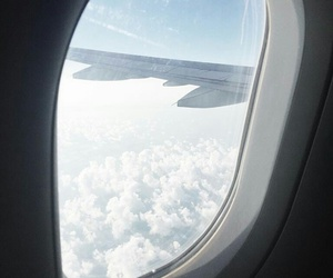 airplane, clouds, and kelsey image