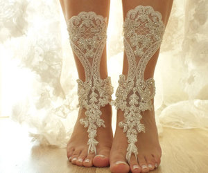 bridesmaid, etsy, and anklet image