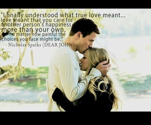 dear john, nicholas sparks, and quote image