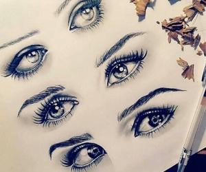 art, eyes, and artwork image