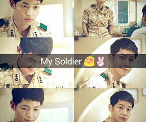 song joong ki, my soldier, and descendant of the sun image