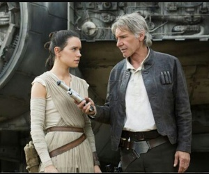 star wars, han solo, and rey image