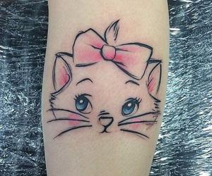 disney, tattoo, and cat image