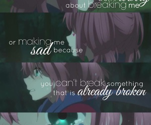 alone, anime, and broken image