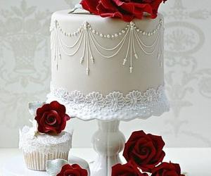 cake, cupcake, and red image
