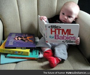 baby, funny, and html image